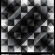 Abstract black and white triangles background. Vector. — Stok Vektör