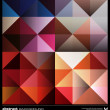 Abstract colorful triangles background. Vector. — Векторная иллюстрация