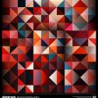 Abstract colorful triangles background. Vector. — ストックベクター #25052949