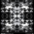 Abstract black and white triangles background. Vector. — Stockvector