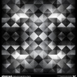 Abstract black and white triangles background. Vector. — ストックベクタ