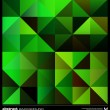 Abstract green triangles background. Vector. — ストックベクタ