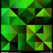 soyut yeşil üçgenler arka plan. vektör — Stok Vektör