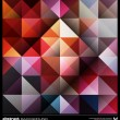 Abstract colorful triangles background. Vector. — Vecteur #25053043