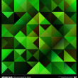 Abstract green triangles background. Vector. — Stockvector