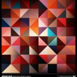 Abstract colorful triangles background. Vector. — Grafika wektorowa