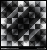 Abstract black and white triangles background. Vector. — Vector de stock