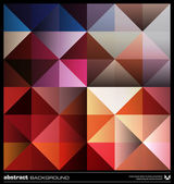 Abstract colorful triangles background. Vector. — Stockvector