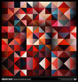 Abstract colorful triangles background. Vector. — Stok Vektör