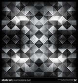 Abstract black and white triangles background. Vector. — Vettoriale Stock