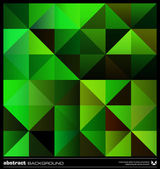 Abstract green triangles background. Vector. — Stockvektor