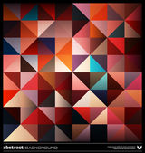 Abstract colorful triangles background. Vector. — Vecteur