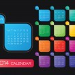 2014 calendar vector — Vetorial Stock #34603761