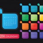 2014 calendar vector — Stock Vector #34603761