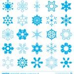 Snowflakes silhouette design. Vector. — Stock Vector