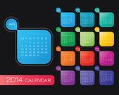 Vektor kalendář 2014 — Stock vektor