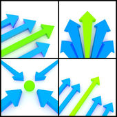 3d arrows — Stock Photo