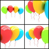 3d party balloons — Stock Photo