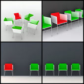3d chairs — Stock Photo