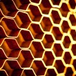 Abstract metal honeycomb structure — Stock Photo #42946439