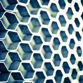Abstract metal honeycomb structure — Stock Photo