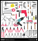 Tools vector silhouettes — Stock Vector