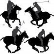Polo Player Silhouette — Stock Vector