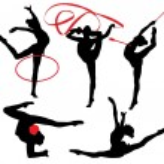 Rhythmic Gymnastics Silhouette — Stock Vector #30225217