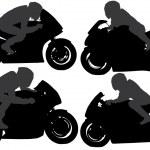 Постер, плакат: Superbike Silhouette