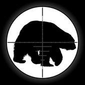 Alcance del cazador — Vector de stock