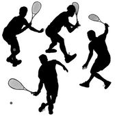 Squash players — Stock Vector