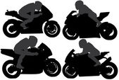 Superbike Silhouette — Stock Vector