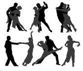 Tango Dancers — Stock Vector