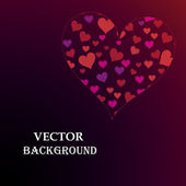 Abstract Background with hearts — Stok Vektör