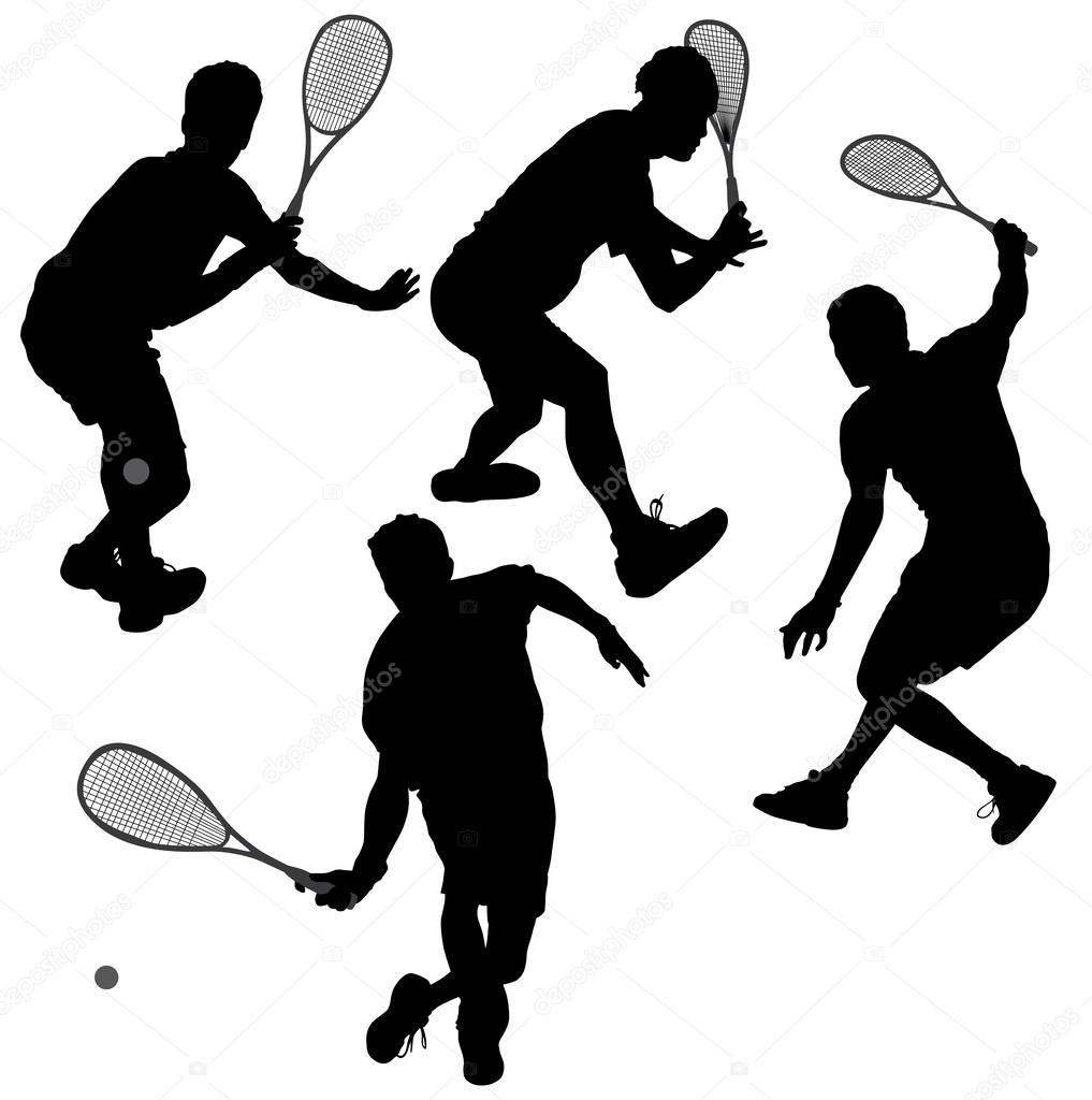 racquetball player silhouette