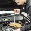 Motor Oil Checking — Stock Photo
