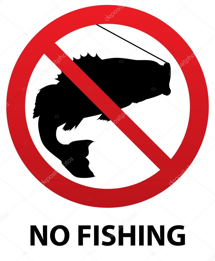 картинка запрещено ловить рыбу