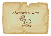 A memento mori is an artistic or symbolic reminder of the inevit — Stock Vector