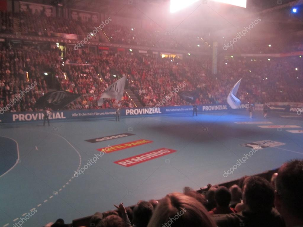 The north derby in handball between THW Kiel and SG Flensburg-Handewitt on 07.11.2012  Stock Photo #14569329