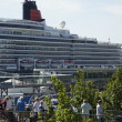 The cruise ship Queen Elizabeth is visiting Kiel at 07 24 12 - Stock Photo