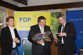 Dr. Heiner Garg, Ekkehard Klug, Sebastian Blumenthal, Member of the Bundestag — Stock Photo