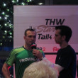 Christan Zeitz Interview after a handball game — Stok fotoğraf