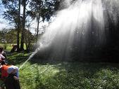 Spraying water — Stock Photo