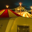 Illuminated big top — Stock Photo