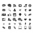 Social Media Icon Set — Vector de stock