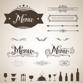 Elegant Menu Design — Stock Vector