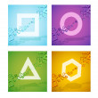 Stock Vector: Geometric colorful shapes