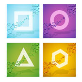 Geometric colorful shapes — Stock Vector