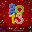 Merry Christmas and Happy New Year 2013 — Stock Photo