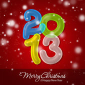 Feliz navidad y feliz año nuevo 2013 — Foto de Stock